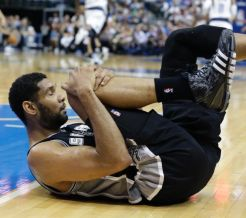 How will Pop handle his starters, up 3 1/2 on OKC? (AP Photo/LM Otero)